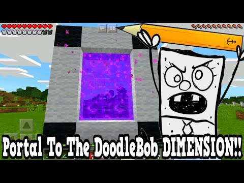 Minecraft Pe - Portal To The SpongeBob DoodleBob DIMENSION - Mcpe Portal To The DoodleBob!!!