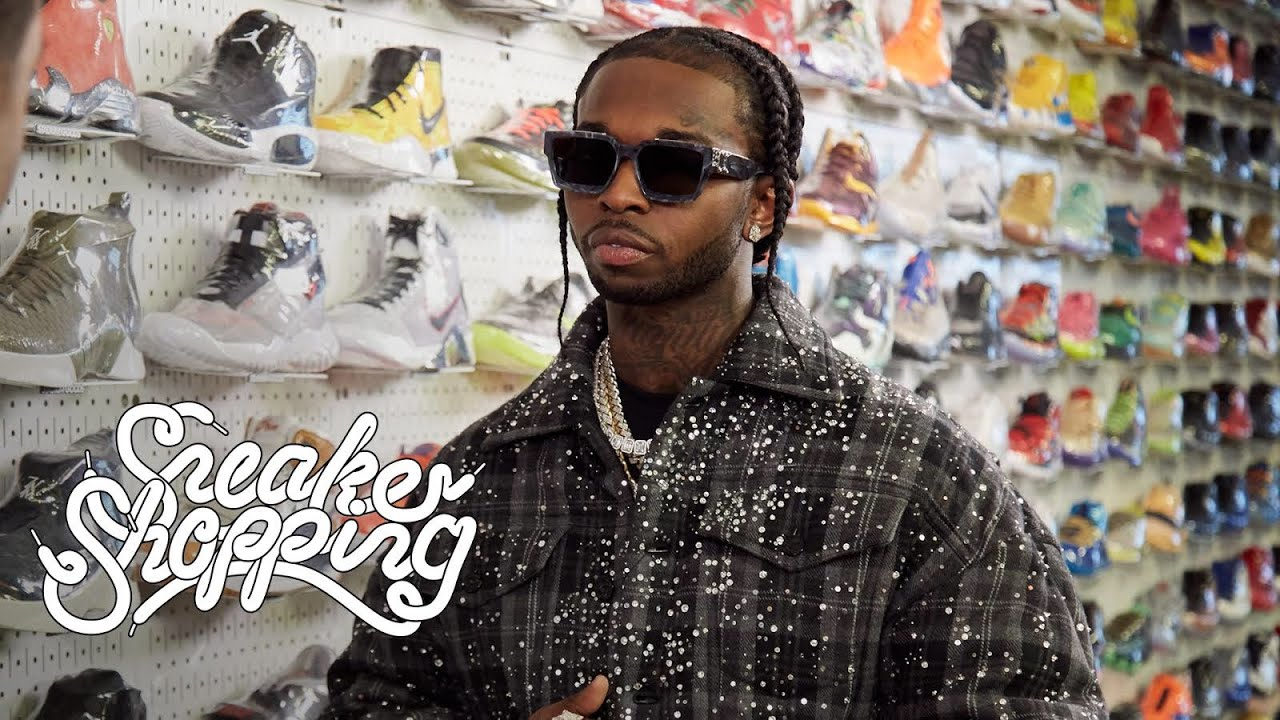 Pop Smoke Goes Sneaker Shopping With