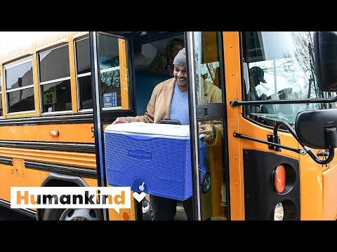 Principal delivers food to students via school bus   Humankind