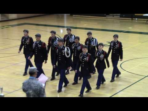 """Pueblo County High School 2016 Drill Meet """"A Team"""" Regulation Drill without Arms"""