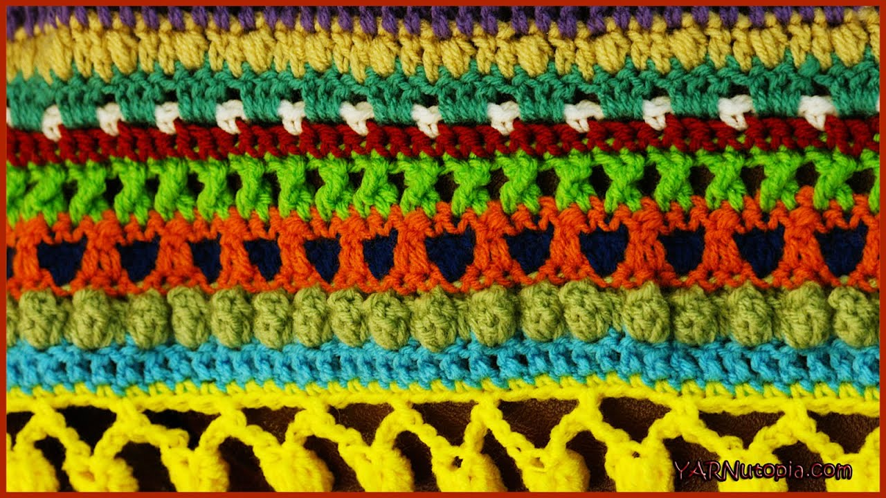 How to Crochet The Color Pop Baby Blanket - YouTube