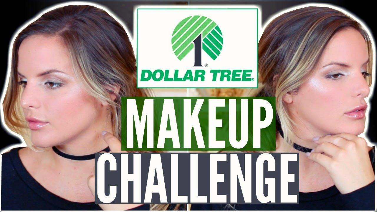 FULL FACE USING DOLLAR TREE MAKEUP CHALLENGE! $11.00 Makeup Tutorial ...