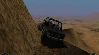 Driving a CJ on Screamer 4x4 Game