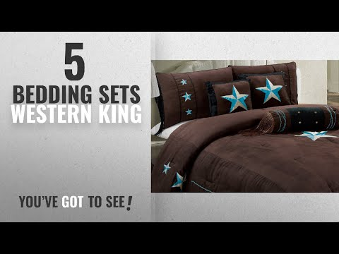 Top 10 Bedding Sets Western King [2018]: 7 Piece WESTERN Lodge Oversize KING (110