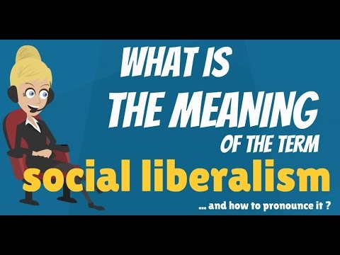 What is SOCIAL LIBERALISM? What does SOCIAL LIBERALISM mean? SOCIAL LIBERALISM meaning