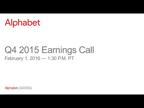 Alphabet Q4 2015 Earnings Call