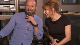 Sting and Mylene Farmer Cozy Up on