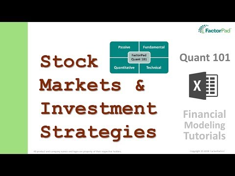 An admittedly flawed history of stock markets and investment strategies