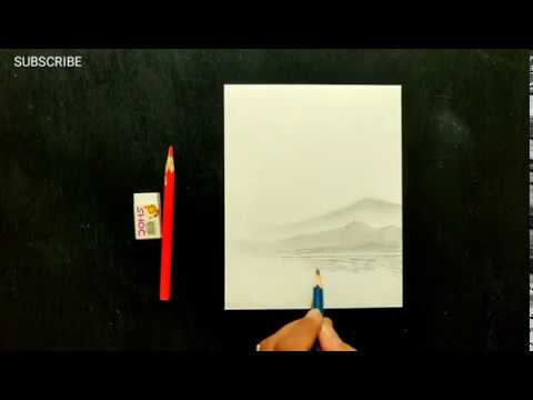Simple and Easy Drawing ideas for kids / Beginners Easy Pencil Drawing Scenery