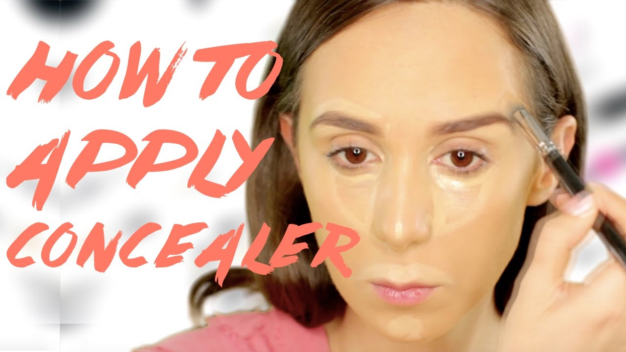 How to apply concealer (and where!) - YouTube