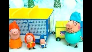 Мультфильм игрушками Свинка Пеппа Свинка Pig Большой сугроб