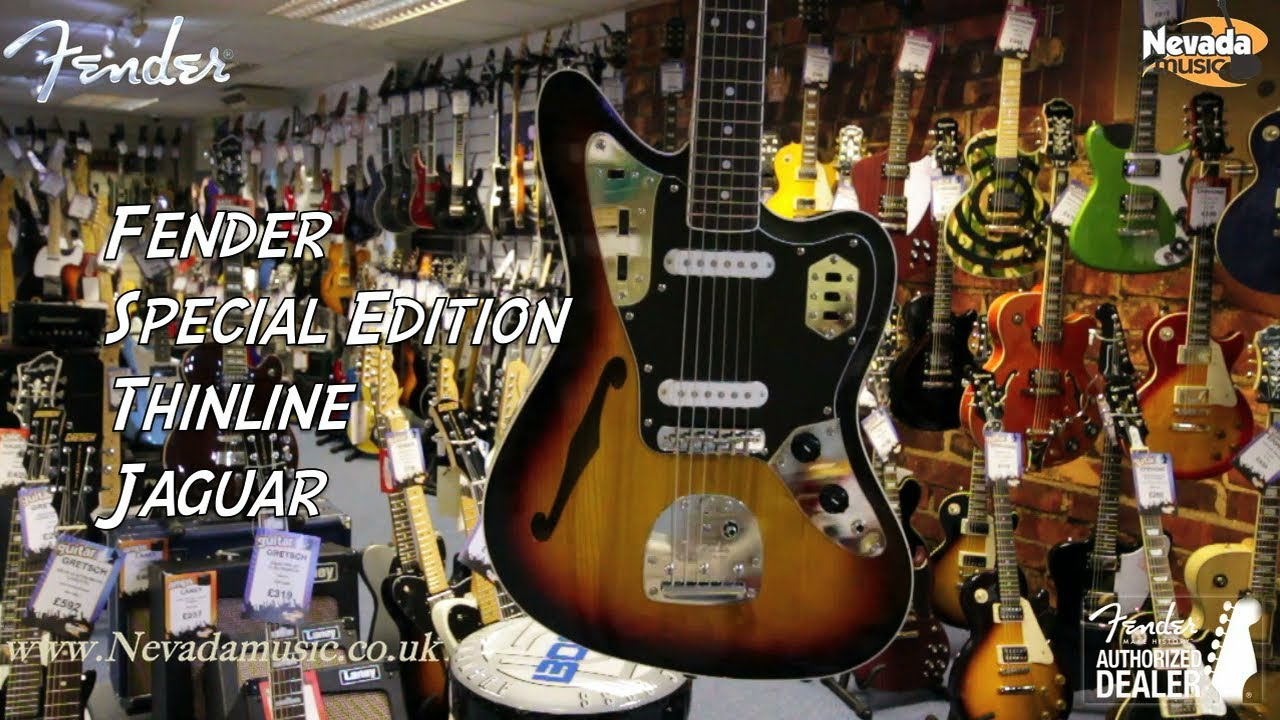 fender special edition jaguar thinline sunburst - quick look