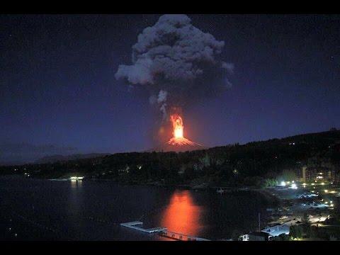 Erupción Volcan Villarrica  03-03-2015