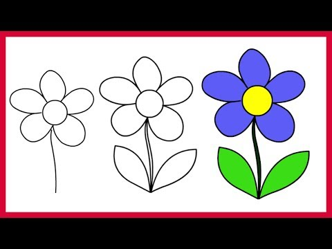 How to Draw a Simple Flower \u2013 Easy Step by Step for Kids and Beginner