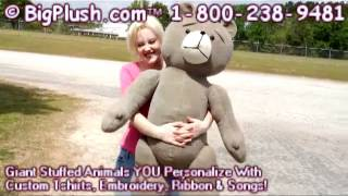 giant size plush old fashioned teddy bear is 3 and 1 2 feet tall great gift made in the usa