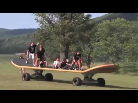 ☆☆Giant Skateboard DESTROY EVERYTHING!! Funny Fail?☆☆