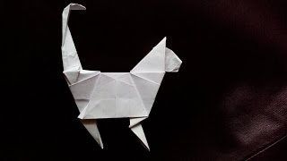 Кошка оригами, cat origami