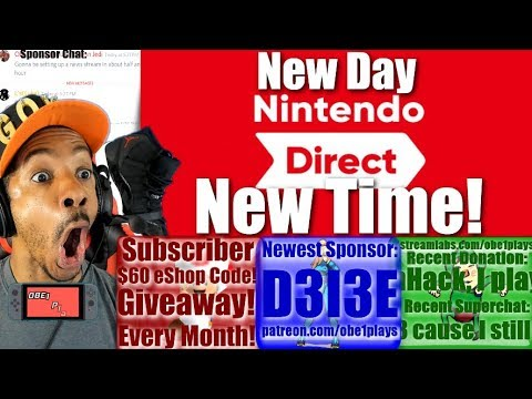 NINTENDO DIRECT NEW DATE & TIME LEAKED!