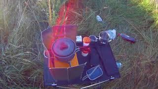 Соло поход с палаткой на речку Нерехта Костромской области