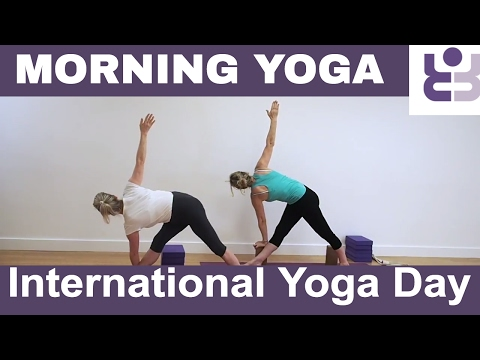 Morning Yoga Practice for International Yoga Day - Iyengar Yoga Sequence