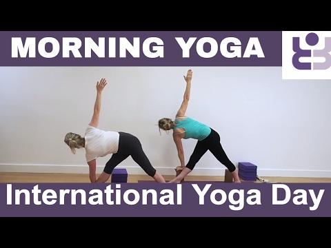 Morning Yoga Practice for International Yoga Day – Iyengar Yoga Sequen…