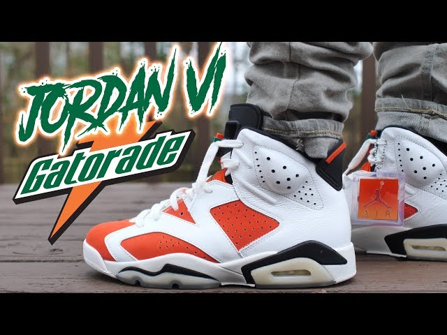 JORDAN 6 GATORADE BE LIKE MIKE REVIEW AND ON FOOT !!!