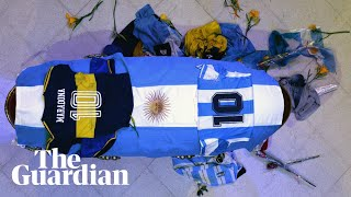 Tens of thousands of Argentinians farewell Diego Maradona