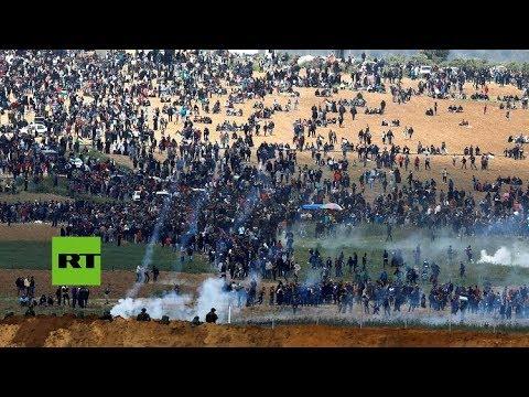 """Disturbios durante la """"Marcha del retorno"""" en la Franja de Gaza"""