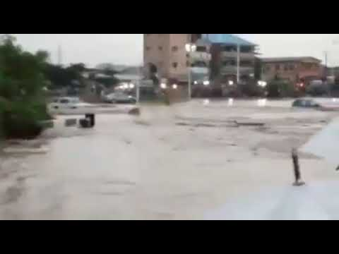 Natural Disaster Flood hit Abeoukuta Nigeria