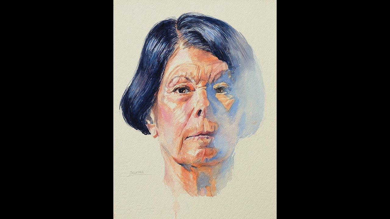 C mo pintar un retrato a la acuarela how to paint a - Retrato oleo paso a paso ...