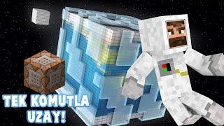 MODSUZ UZAYA ÇIK | Minecraft Tek Komut Bloğı İle [Uzaya Çık!]