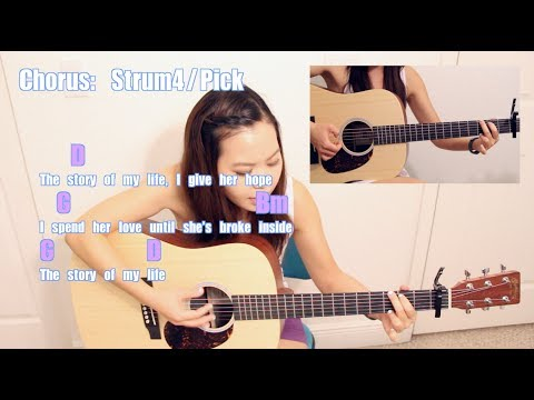 Story of My Life  e Directi EASY Guitar TutorialChords & GIVEAWAY!! CLOSED