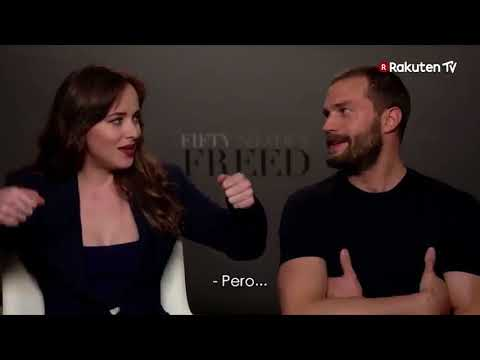 Jamie Dornan & Dakota Johnson  Fifty Shades Freed DVD Release Spain quick fire fun!