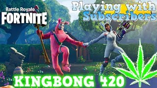 ⛄ Fortnite #255 Playing with Subscribers 🎮 Ice Berg Snowboards & Air Planes 🔥 KingBong 420