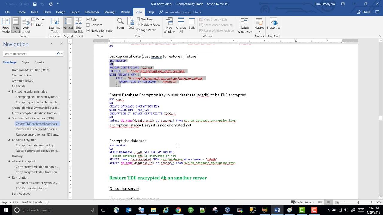 SQL Server Encryption - Part 6