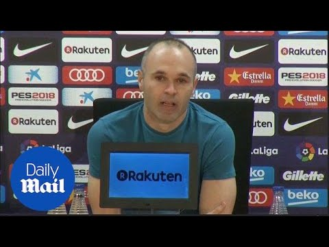 Andres Iniesta Announces He's Leaving Barca After This Season - Daily Mail