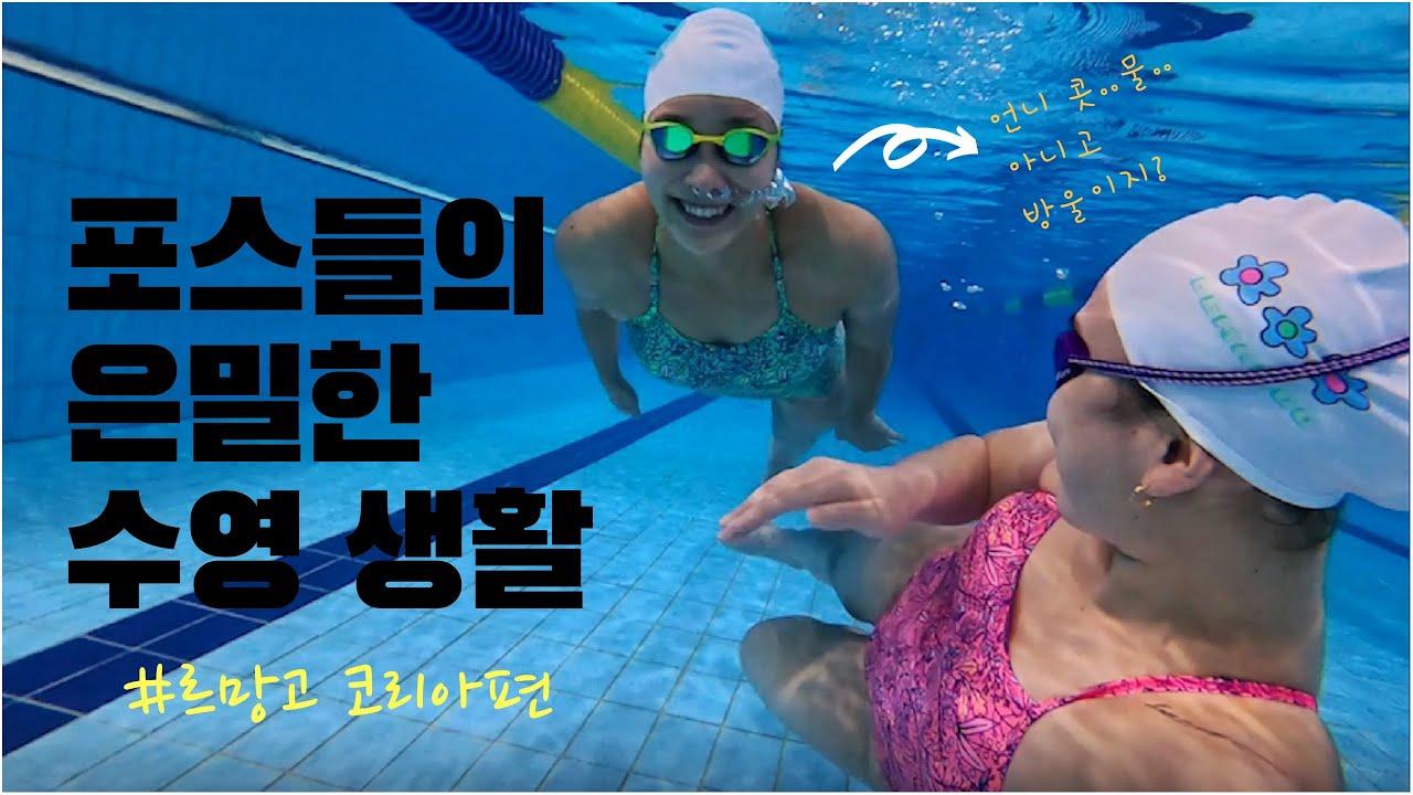포스들의 은밀한 수영생활!! #르망고 코리아편 (쿠키영상 있음!!)