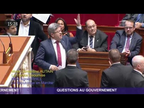 """Les Insoumis très très en colère à l'Assemblée à cause de Rugy, le """"serial coupeur"""""""