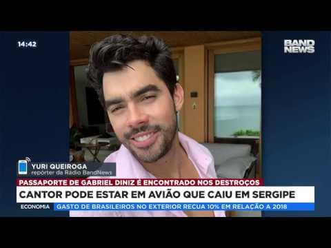 Avião com cantor Gabriel Diniz cai em Sergipe