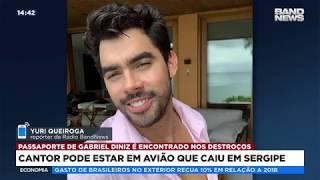Baixar Avião com cantor Gabriel Diniz cai em Sergipe