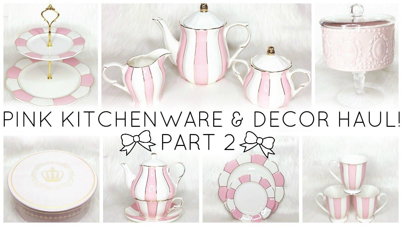 Pink Kitchenware Decor Haul White Stripes Scallops Homegoods Joann Fabrics You