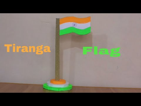 How To Make National Flag || Handmade Tiranga || Tiranga Craft by Hand