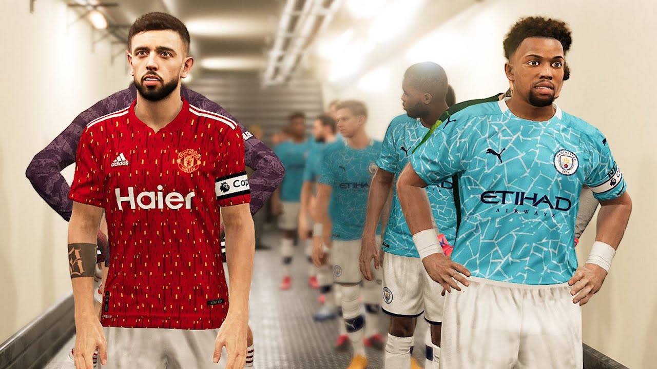 Man United Vs Man City Kits 2020 21 Ft Grealish Sancho Adama Traore Youtube