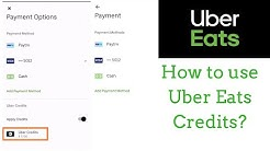 How to use Uber Eats Credit | With Proof |