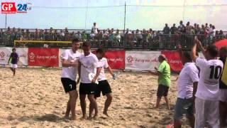 Ustka. Beach soccer. Mistrzostwa Polski. Mecz o 3. miejsce