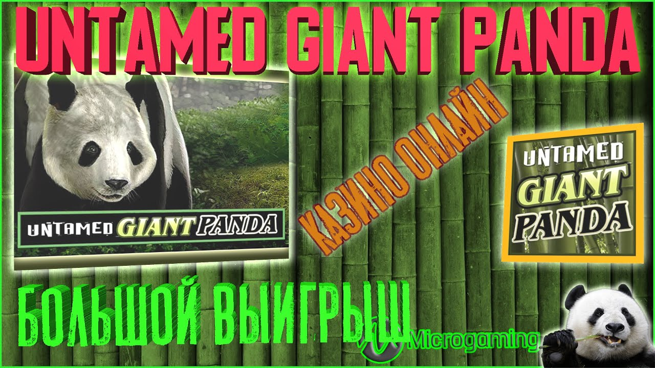 Бесплатный игровой автомат untamed giant panda онлайн