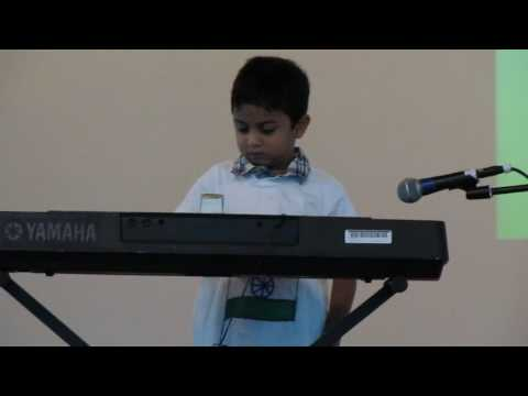 Sneh Shah playing Jana Gana Mana on Piano