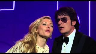 katheryn winnick e charlie sheen cantando aguas de março