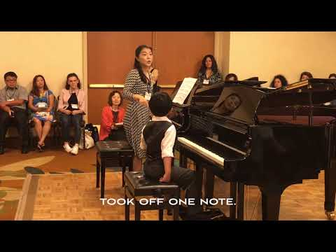 Piano Master Class:  Dr. Janice Park & Evan Le (7 years 2 months)
