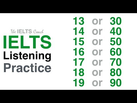 Listening Practice Numbers 13 or 30